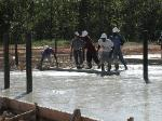 Pouring Concrete at Quail Tools